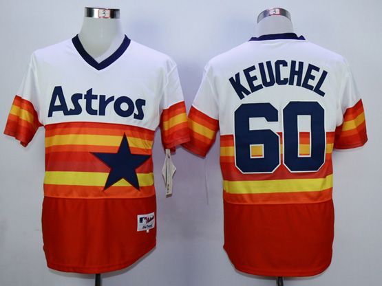 Mens Mlb Houston Astros #60 Keuchel White&orange Pullover Jersey