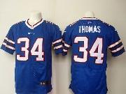 mens nfl buffalo bills #34 Thurman Thomas blue (2013 new) elite jersey