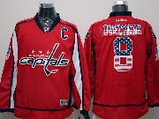 Mens Reebok Nhl Washington Capitals #8 Ovechkin Red (usa Flag Fashion) Jersey