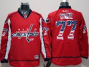 Mens Reebok Nhl Washington Capitals #77 Oshie Red (usa Flag Fashion) Jersey