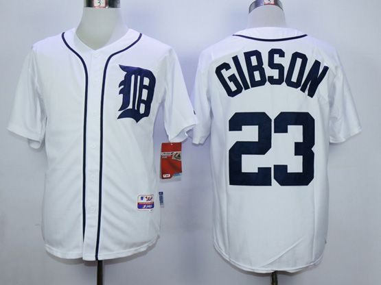 Mens Mlb Detroit Tigers #23 Gibson White (2015 Majestic) Jersey
