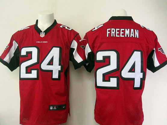 Mens Nfl Atlanta Falcons #24 Freeman Red Elite Jersey