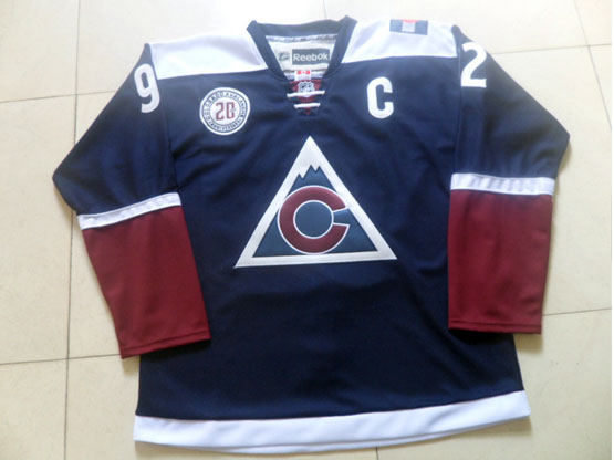 Mens Reebok Nhl Colorado Avalanche #92 Landeskog Blue (2015) Jersey