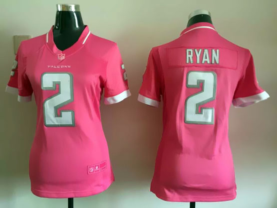 Women  Nfl Atlanta Falcons #2 Ryan Pink Bubble Gum Jersey
