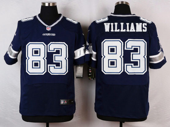 Mens Nfl Dallas Cowboys #83 Williams Blue Elite Jersey