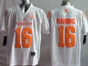 Mens Ncaa Nfl Tennessee Volunteers #16 Manning White Jersey Gz