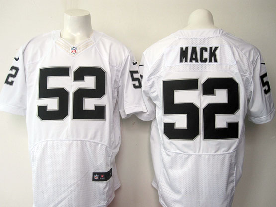 Mens Nfl Oakland Raiders #52 Mack White (2015 New) Elite Jersey