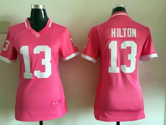 Mens Nfl Indianapolis Colts #13 Hilton Pink Bubble Gum Jersey