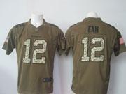 Mens Nfl Seattle Seahawks #12 Fan Green Salute To Service Limited Jersey