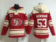 mens nfl San Francisco 49ers #53 NaVorro Bowman red (team hoodie) jersey