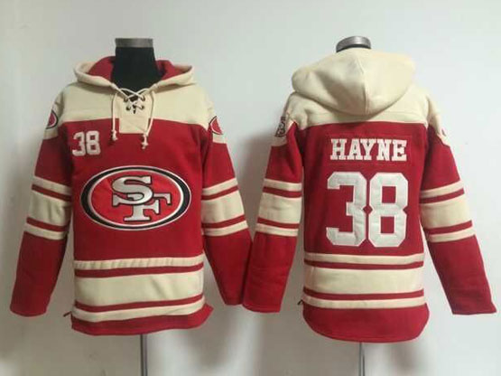 Mens Nfl San Francisco 49ers #38 Hayne Red (team Hoodie) Jersey
