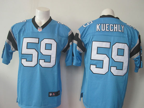 Mens Nfl Carolina Panthers #59 Kuechly Blue Elite Jersey