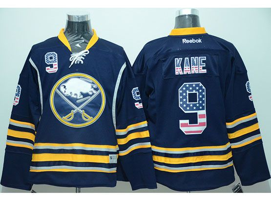 Mens Reebok Nhl Buffalo Sabres #9 Evander Kane Dark Blue (usa Flag Fashion) Jersey(sn)