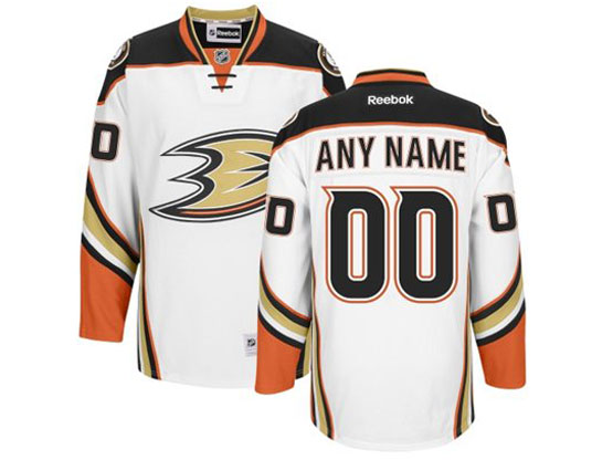 Nhl Anaheim Mighty Ducks (custom Made) White (2014 New) Jersey