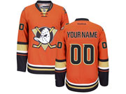 Nhl Anaheim Mighty Ducks (custom Made) Orange Jersey