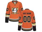 Women Nhl Anaheim Mighty Ducks (custom Made) Orange Jersey
