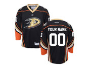 Youth Nhl Anaheim Mighty Ducks (custom Made) Black Jersey