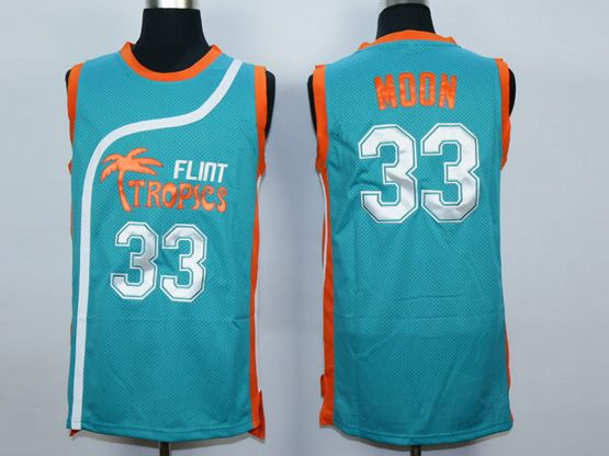 Mens Nba Movie Flint Tropics Semi Pro #33 Moon Light Blue Jersey