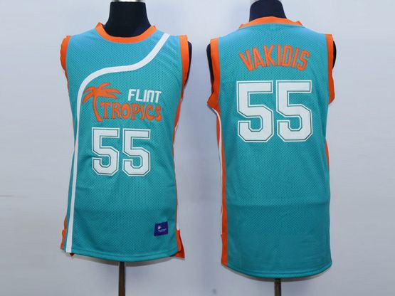 Mens Nba Movie Flint Tropics Semi Pro #55 Vakidis Light Blue Jersey