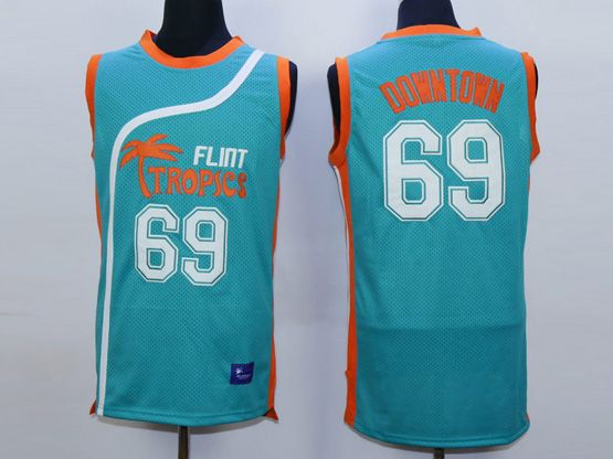 Mens Nba Movie Flint Tropics Semi Pro #69 Downtown Light Blue Jersey