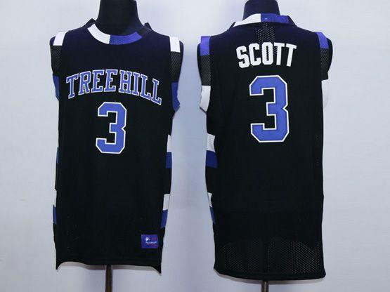 Mens Nba Movie One Tree Hill #3 Scott Black Jersey