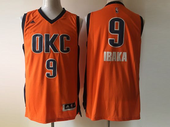Mens Nba Oklahoma City Thunder #9 Ibaka Orange 2016 Jersey