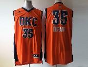 Mens Nba Oklahoma City Thunder #35 Durant Orange 2016 Jersey