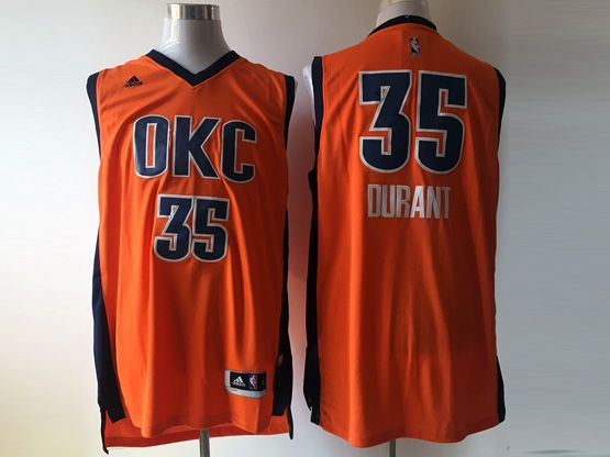 Mens Nba Oklahoma City Thunder #35 Durant Orange 2016 Jersey