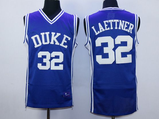 Mens Ncaa Nba Duke Blue Devils #32 Laettner Blue Jersey
