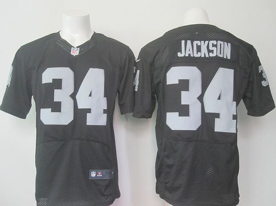 Mens Nfl Oakland Raiders #34 Jackson Black (2015 New) Elite Jersey