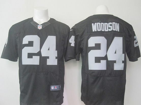 mens nfl Oakland Raiders #24 Charles Woodson black (2015 new) elite jersey