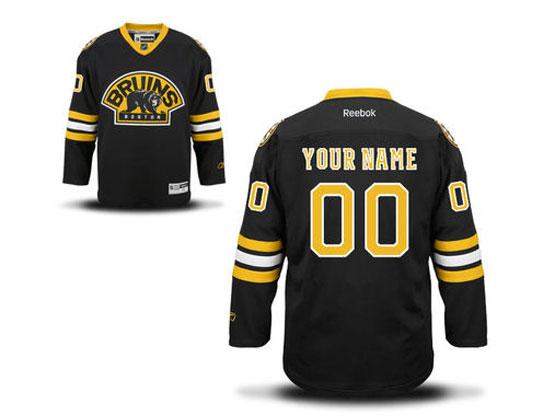 Mens Reebok Boston Bruins Black Alternate Premier Jersey