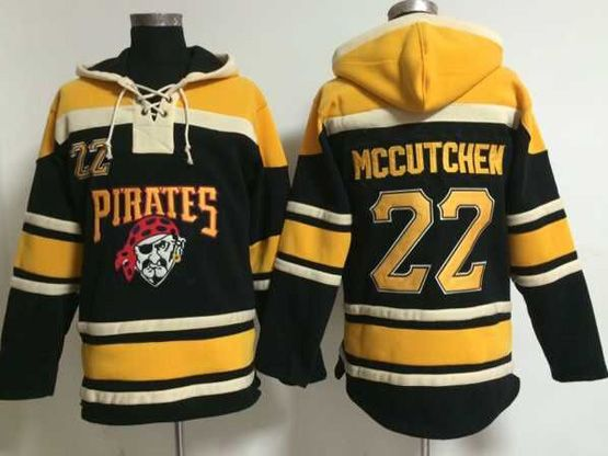 Mens Mlb Pittsburgh Pirates #22 Andrew Mccutchen Black Hoodie Jersey