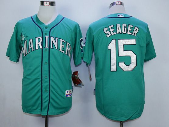 Mens Mlb Seattle Mariners #15 Seager Green Jersey
