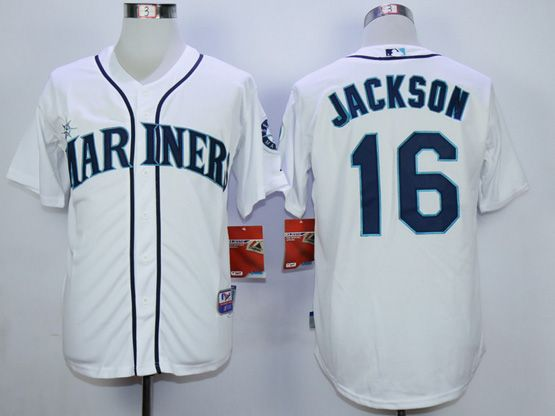 Mens Mlb Seattle Mariners #16 Jackson White Jersey