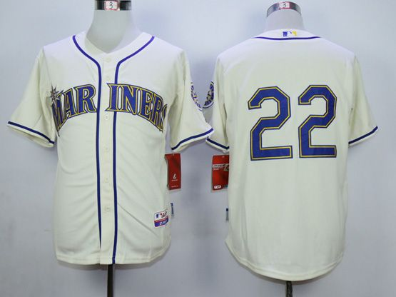 Mens Mlb Seattle Mariners #22 Cano Cream Jersey