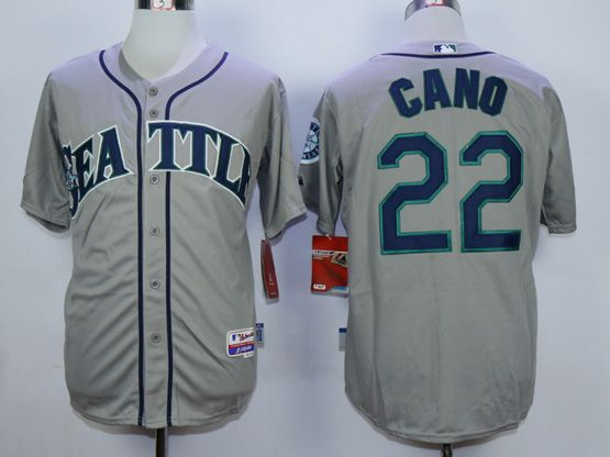 Mens Mlb Seattle Mariners #22 Cano Gray Jersey