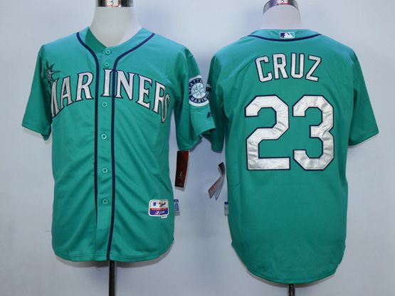 Mens Mlb Seattle Mariners #23 Cruz Green Jersey