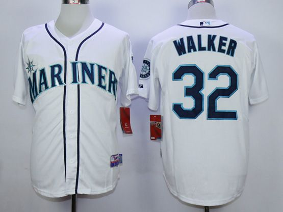 Mens Mlb Seattle Mariners #32 Walker White Jersey
