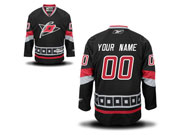 Reebok Carolina Hurricanes (custom Made) Black Jersey