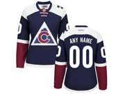 Women Reebok Colorado Avalanche (custom Made) Blue Jersey