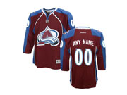 Youth Reebok Colorado Avalanche (custom Made) Red Jersey
