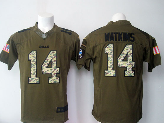 mens nfl Buffalo Bills #14 Sammy Watkins green green salute to service limited jersey