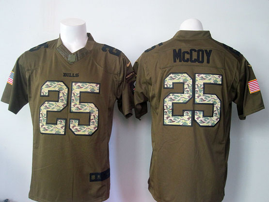 mens nfl Buffalo Bills #25 LeSean McCoy green green salute to service limited jersey