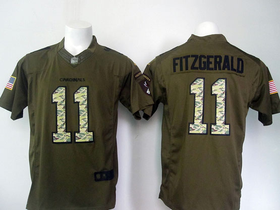 Mens Nfl Arizona Cardinals #11 Larry Fitzgerald Green Salute To Service Limited Jersey