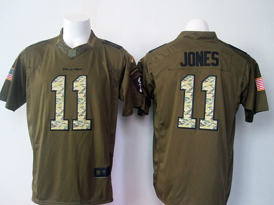 Mens Nfl Atlanta Falcons #11 Jones Green Salute To Service Limited Jersey