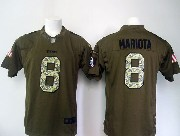 Mens Nfl Tennessee Titans #8 Mariota Green Salute To Service Limited Jersey