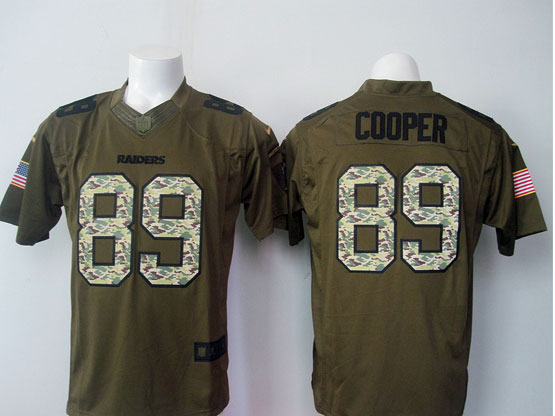 Mens Nfl Okland Raiders #89 Cooper Black Green Salute To Service Limited Jersey