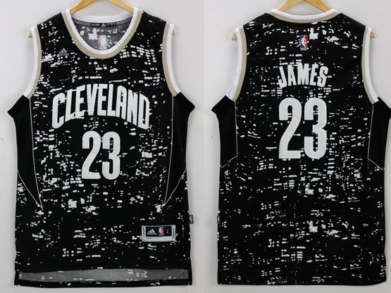 Mens Nba Cleveland Cavaliers #23 Lebron James Black Luminous Version Jersey