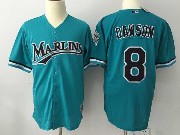 Mens Mlb Miami Marlins #8 Dawson Green Throwbacks Mesh Jersey